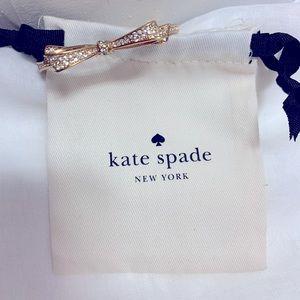 Kate Spade gold bow clasp bracelet